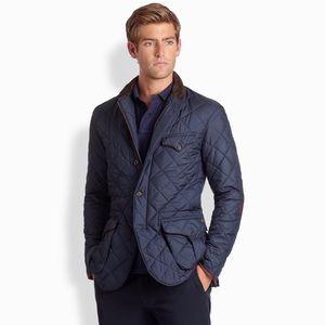 Polo Ralph Lauren Navy Blue Quilted Classic Coat